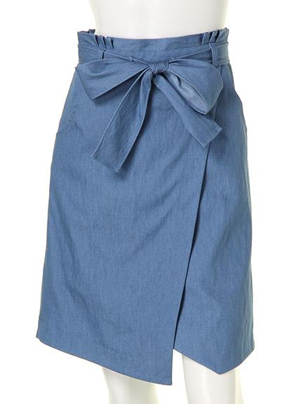 アシメ台形スカート(ライトブルー)